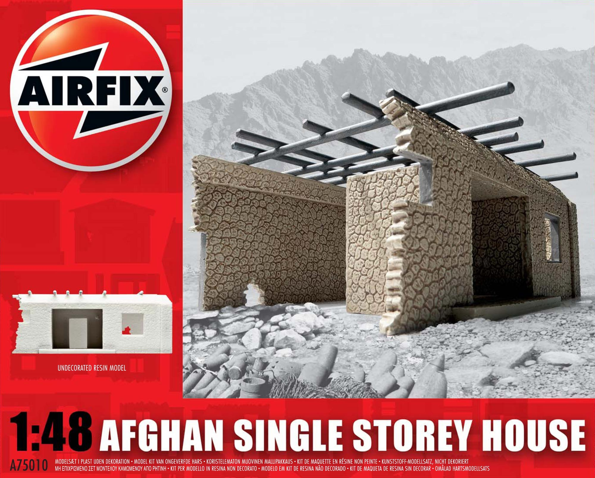 AIR75010 - Airfix 1/48 Afghan Single Storey House