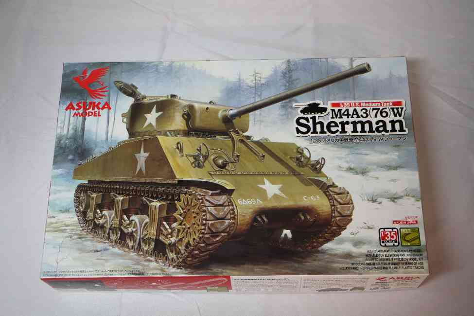 ASU35019 - Asuka Model 1/35 M4A3(76)W Sherman
