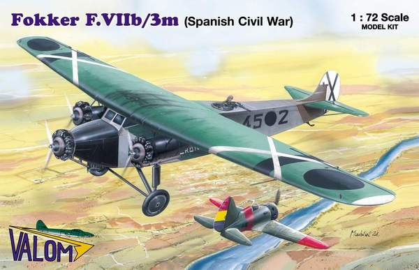 VAL72054 - Valom 1/72 Fokker F.VIIb/3m Spanish Civil War