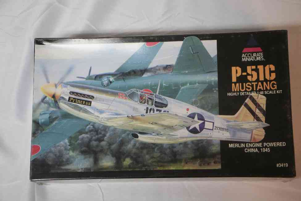 ACC3419 - Accurate Miniatures 1/48 P-51G Mustang Merlin Engine - China