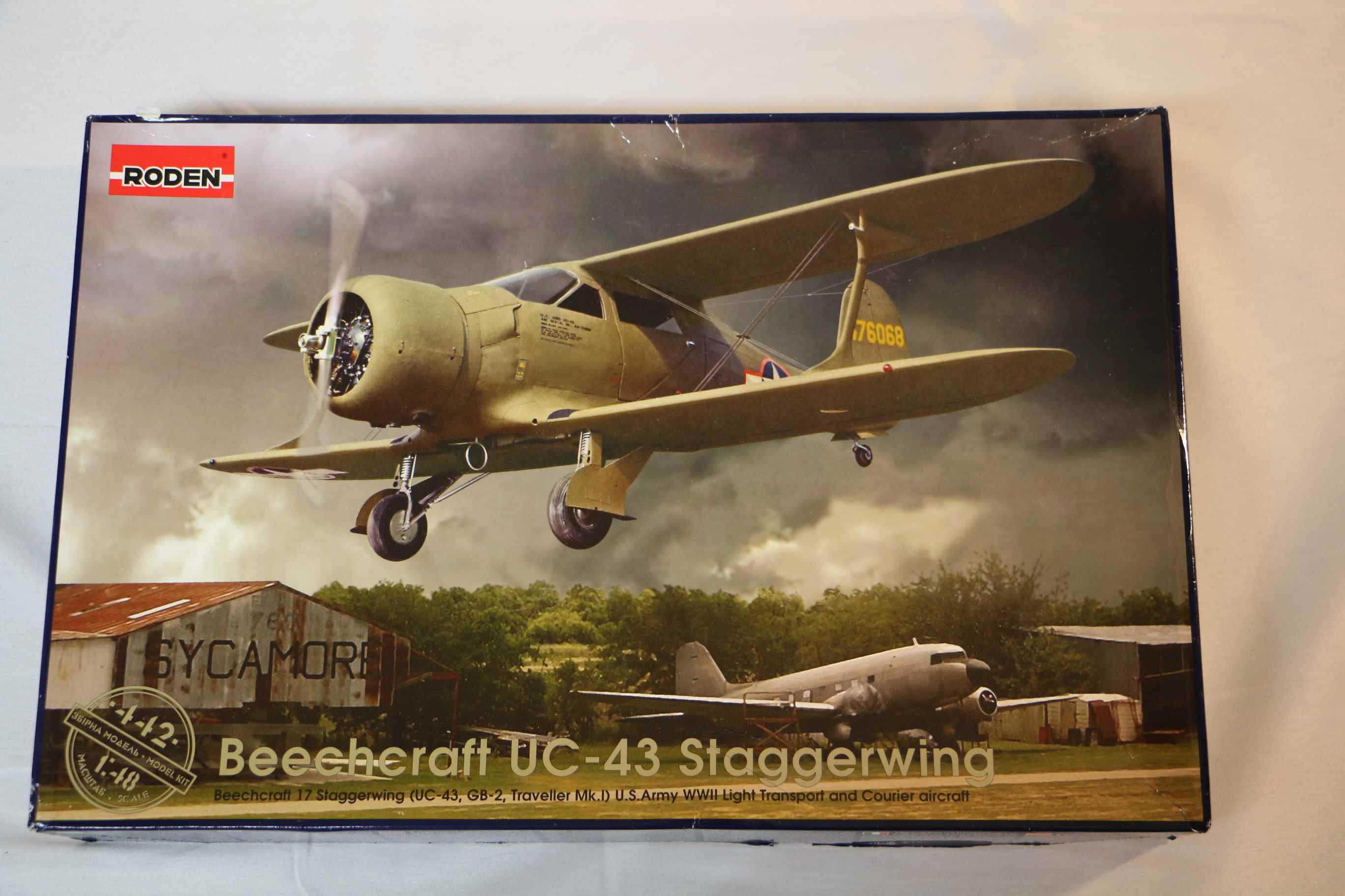 ROD442 - Roden 1/48 Beechcraft UC-43 Staggerwing
