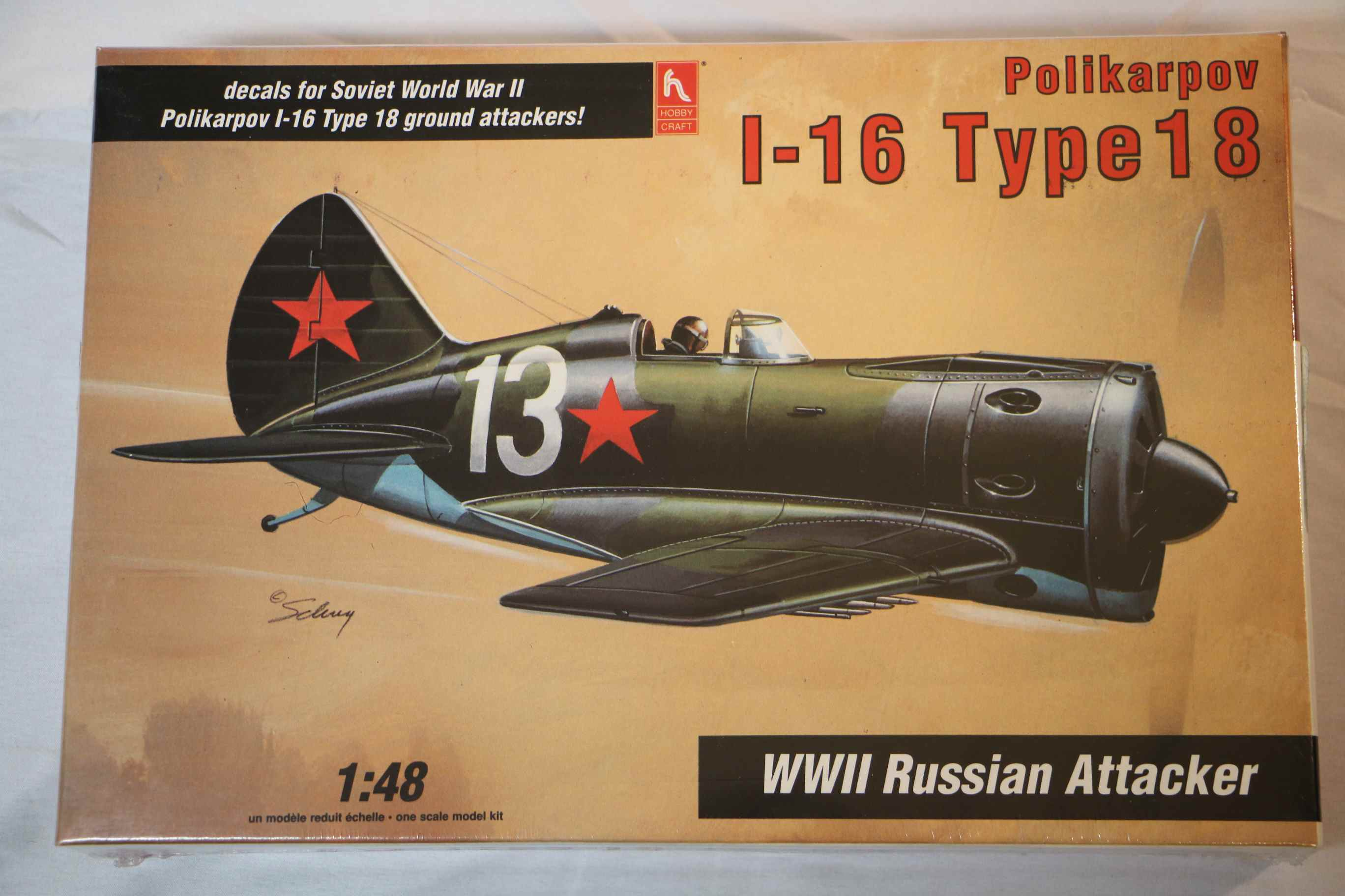 HOB1577 - Hobbycraft 1/48 I-16 Type 18 Russian Rocket-Armed