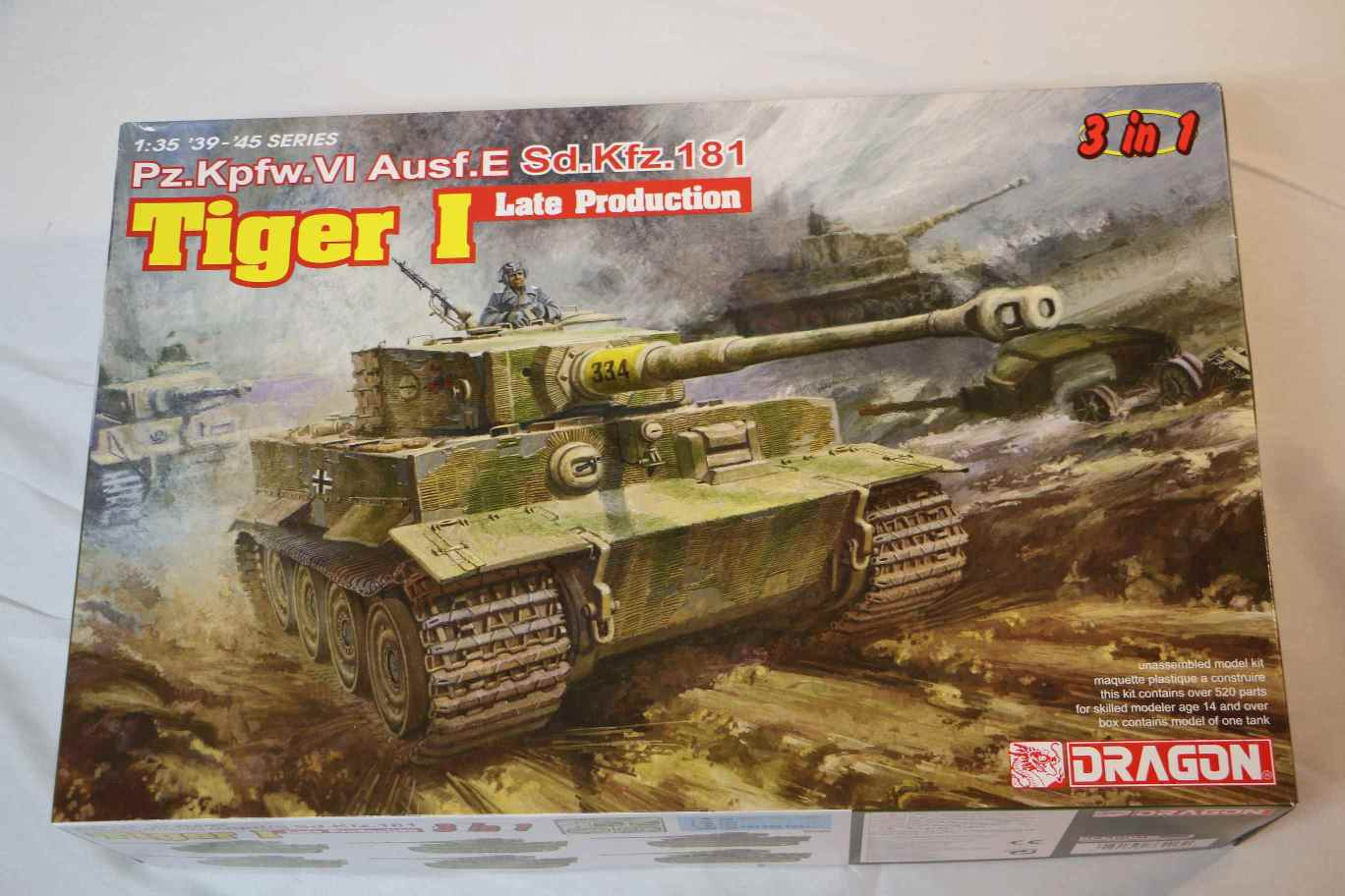 DRA6406 - Dragon 1/35 PzKpfw VI Ausf E SdKfz 181 Tiger I Late Tank (3 in 1)