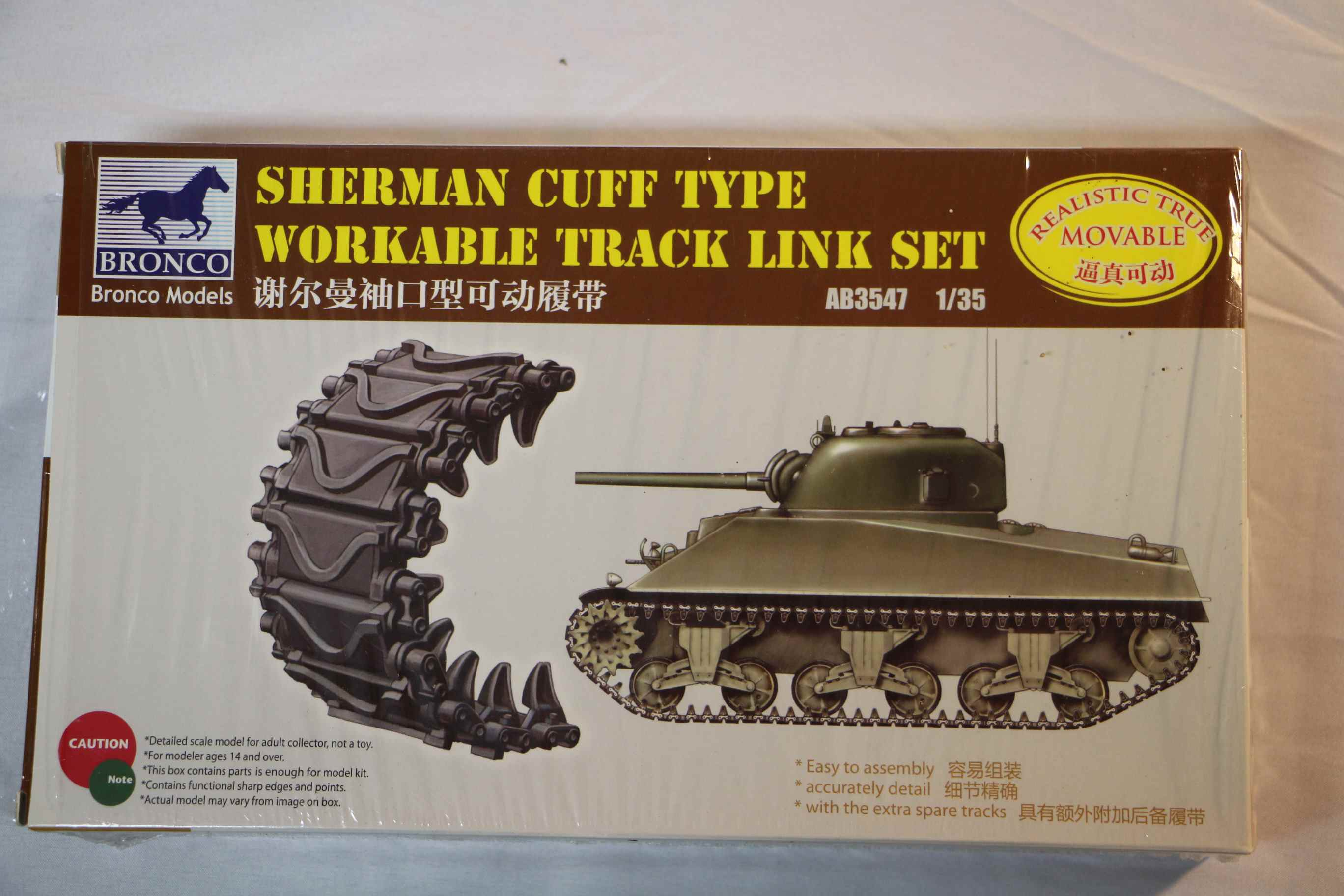 BROAB3547 - Bronco 1/35 Sherman Tracks (Cuff Type)