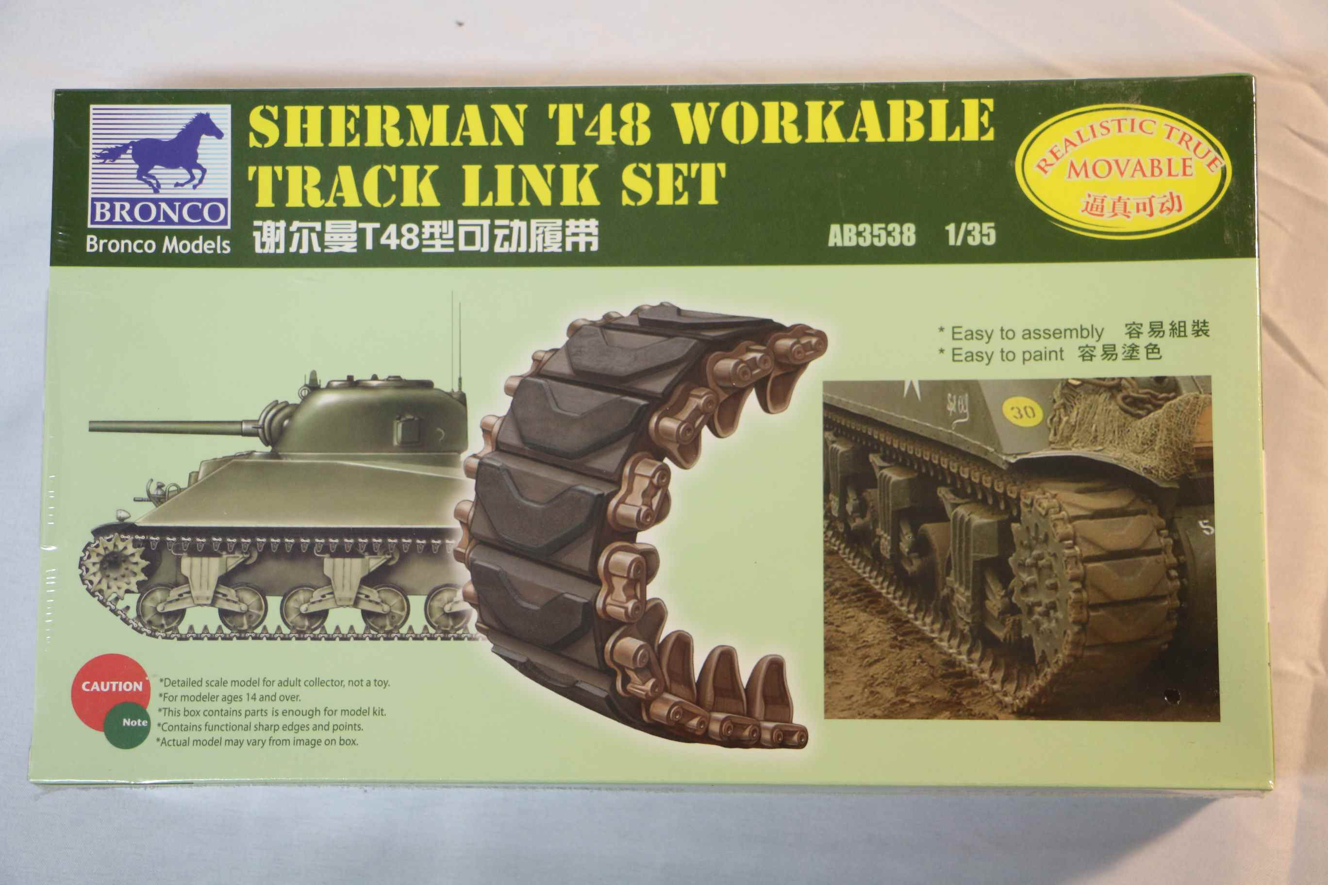 BROAB3538 - Bronco 1/35 Sherman T48 Workable Track
