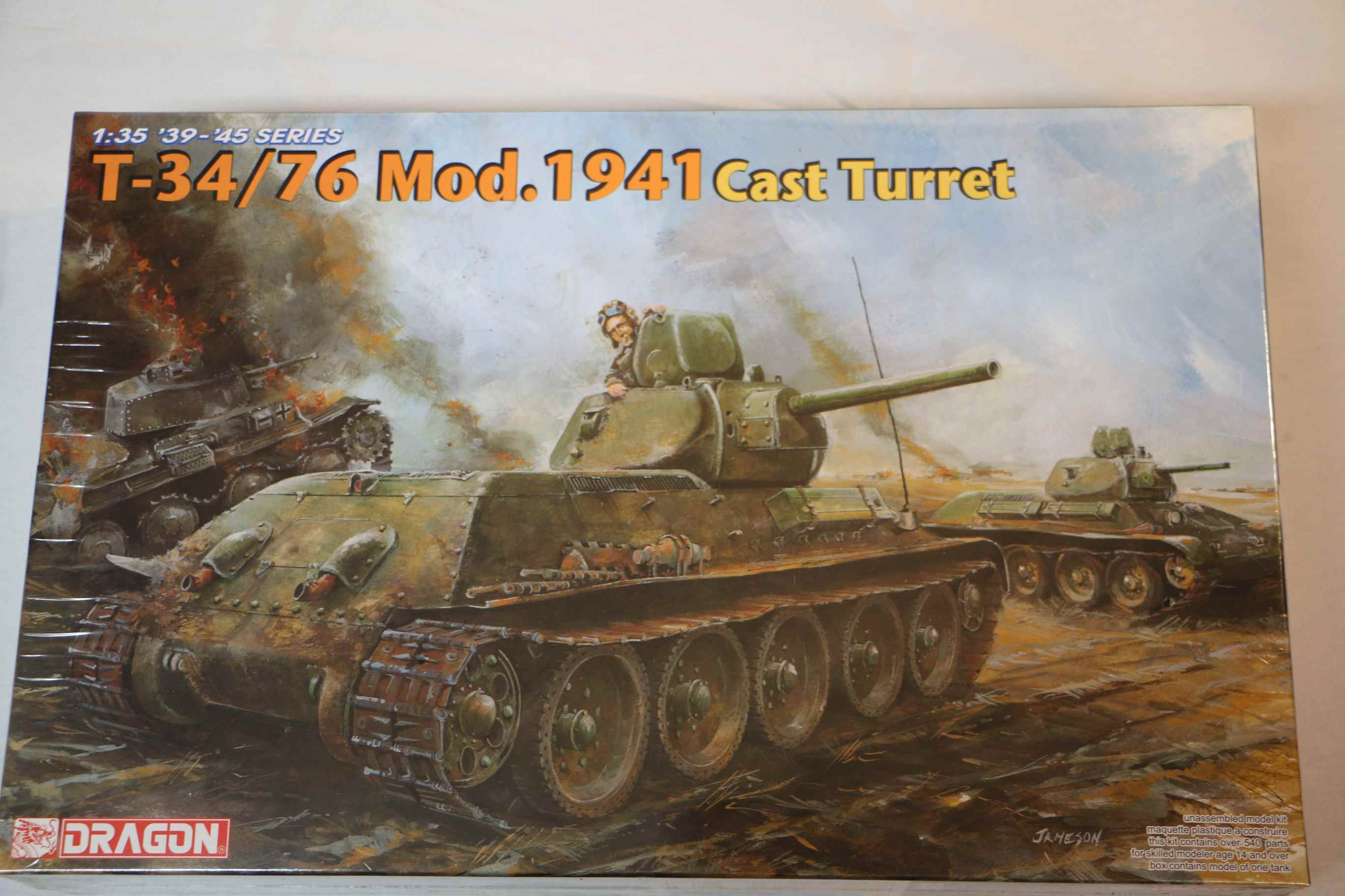 DRA6418 - Dragon 1/35 T34/76 Mod. 1941 Tank w/Cast Turret