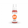 AKI11087 - AK Interactive Scarlet Red - 17mL Bottle - Acrylic / Water Based - Flat