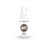 AKI11230 - AK Interactive Titanium White - 17mL Bottle - Acrylic / Water Based - Flat