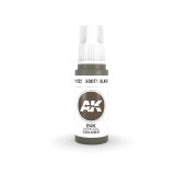 AKI11222 - AK Interactive Sooty Black Ink - 17mL Bottle - Acrylic / Water Based - Flat