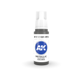 AKI11212 - AK Interactive Gun Metal - 17mL Bottle - Acrylic / Water Based - Flat