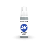 AKI11209 - AK Interactive Silver - 17mL Bottle - Acrylic / Water Based
