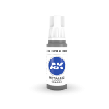 AKI11208 - AK Interactive Dark Aluminium - 17mL Bottle - Acrylic / Water Based - Flat