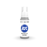 AKI11207 - AK Interactive Aluminium - 17mL Bottle - Acrylic / Water Based - Flat