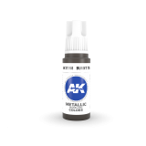 AKI11198 - AK Interactive Burnt Tin - 17mL Bottle - Acrylic / Water Based - Flat