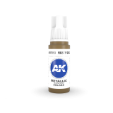AKI11193 - AK Interactive Rusty Gold - 17mL Bottle - Acrylic / Water Based