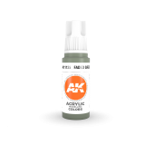 AKI11135 - AK Interactive Faded Green - 17mL Bottle - Acrylic / Water Based - Flat
