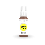 AKI11102 - AK Interactive Deep Brown - 17mL Bottle - Acrylic / Water Based - Flat