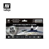 VLJ71155 - Vallejo Type - Air War Sets: US Navy & USMC colors from 70's to present (8 pieces) - Acrylic / Water Based
