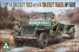 TKM2126 - Takom 1/35 1/4T JEEP W TRAILER AND MP FIGURE