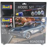 REV67037 - Revell 1/25 1958 Corvette Roadster - Model Set Series