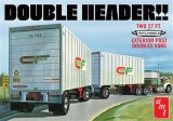 AMT1132 - AMT 1/25 DOUBLE HEADER 27' EXT. POST DBL VANS