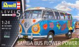 REV07050 - Revell 1/24 VW Samba Bus Flower Power