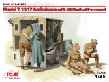 ICM35662 - ICM 1/35 1917 Model T Ambulance with US Medical Personnel