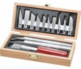 EXC44282 - Excel Knife Set in Wooden Box
