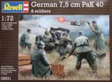 REV02531 - Revell 1/72 German 7.5cm PaK 40 & Soldiers