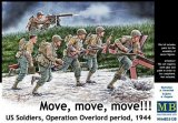 MBLMB35130 - Master Box 1/35 Move, move, move!!! - U.S. Soldiers, Operation Overlord period, 1944 - World War II Era Series