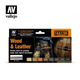 VLJ70182 - Vallejo Type - Effects Set: Wood & Leather (8 pieces) - Acrylic / Water Based