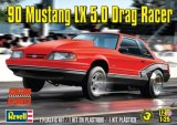 REV85-4195 - Revell 1/25 1990 Mustang LX 5.0 Drag Racer - Motor Sports Series