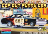 MON85-4093 - Monogram 1/24 Plymouth Duster Cop Out Funny Car - Tom Daniel