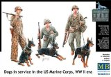 MBLMB35155 - Master Box 1/35 Dogs in service in the US Marine Corps - World War II Era Series