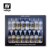 VLJ71185 - Vallejo Type - Air War Sets: WWII USAAF Aircraft (16 pieces) - Acrylic / Water Based