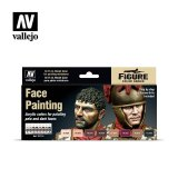 VLJ70119 - Vallejo Type - Figure Sets: Face Painting Set (8 pieces) - Acrylic / Water Based - Flat