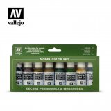 VLJ70108 - Vallejo Type - AFV Sets: Panzer Colors (8 pieces) - Acrylic / Water Based - Flat