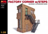 MIA35544 - Miniart 1/35 Factory Corner w/Steps