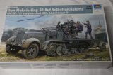 TRP01523 - Trumpeter 1/35 German 2cm Flakvierling 38 Auf Selbstfahrlafette (sd.Kfz.7/1 early version) with Sd.Anhanger 41