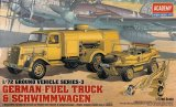 ACA13401 - Academy 1/72 German Fuel Truck & Schwimmwagen - Gound Vehicle Series-3