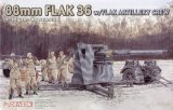 DRA6260 - Dragon 1/35 88mm FLAK 36 w/Flak Artillery Crew - '39-'45 Series