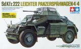 TAM35270 - Tamiya 1/35 SD.KFZ.222 LEICHTER PANZERSPAHWAGEN (4X4) WITH PHOTO-ETCHED PARTS + ALUMINIUM GUN BARREL
