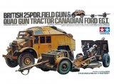 TAM35044 - Tamiya 1/32 BRITISH 25PDR.FIELD GUN AND QUAL GUN TRACTOR CANADIAN FORD F.G.T.