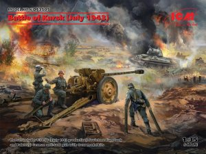 ICMDS3505 - ICM 1/35 Battle of Kursk (July 1943) - T-34-75 (Early 1943) PaK 36( r ) with Crew