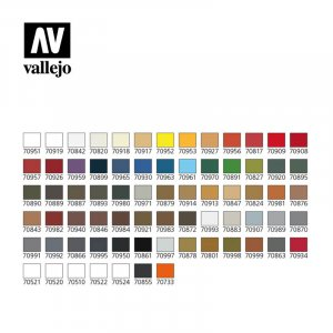 VLJ70172 - Vallejo Type - Case Sets: Basic Model Color (72 pieces) - Acrylic / Water Based