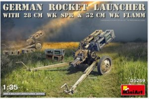 MIA35269 - Miniart 1/35 German Rocket Launcher with 28cm WK SPR and 32cm WK Flamm