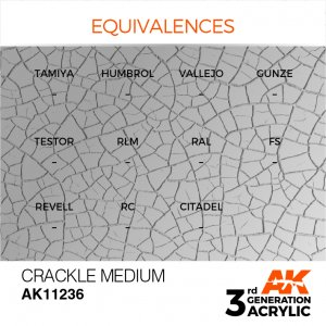 AKI11236 - AK Interactive Crackle Medium - 17mL Bottle - Acrylic / Water Based