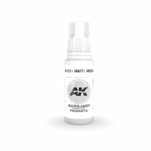 AKI11234 - AK Interactive Matte Medium - 17mL Bottle - Acrylic / Water Based