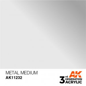 AKI11232 - AK Interactive Metal Medium - 17mL Bottle - Acrylic / Water Based