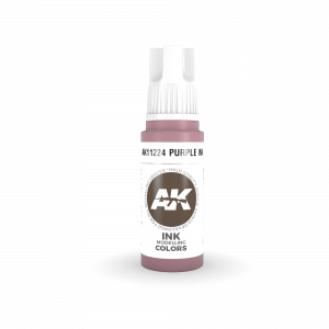 AKI11224 - AK Interactive Purple Ink - 17mL Bottle - Acrylic / Water Based